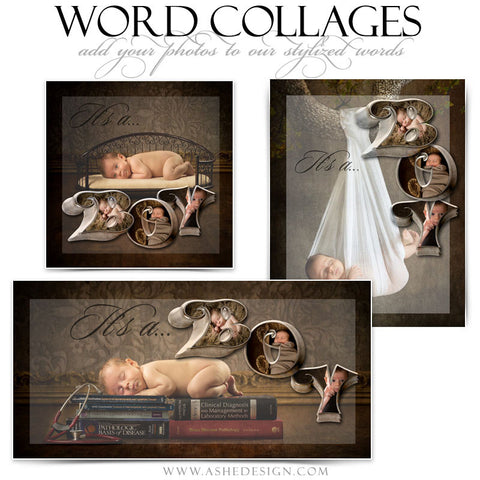 It's A Boy 3D Word Collage Set web display