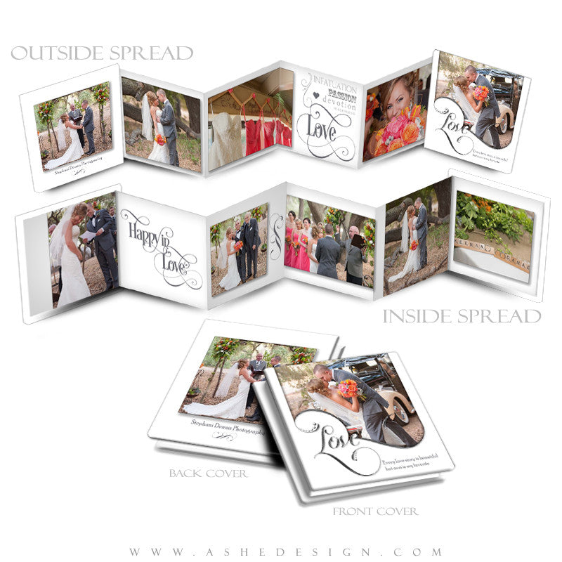 Accordion Mini Photo Book | Simply Worded Love