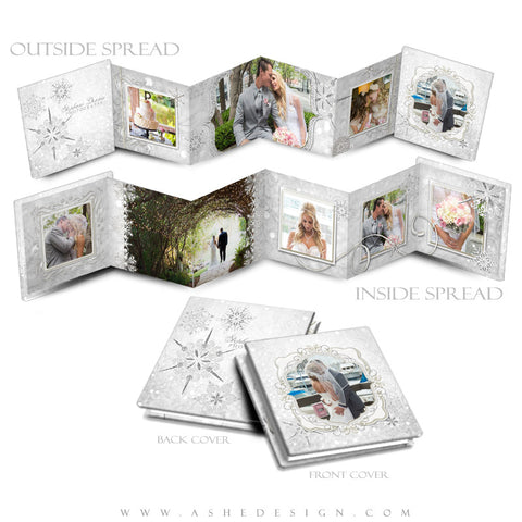3x3 Accordion Mini Photo Book |  Snow Babies