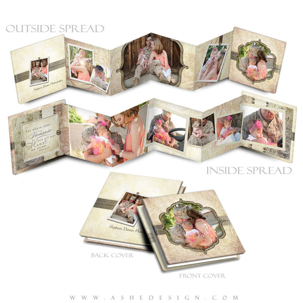 Ashe Design | Photoshop Template | 3x3 Photo Book | Victorian Garden