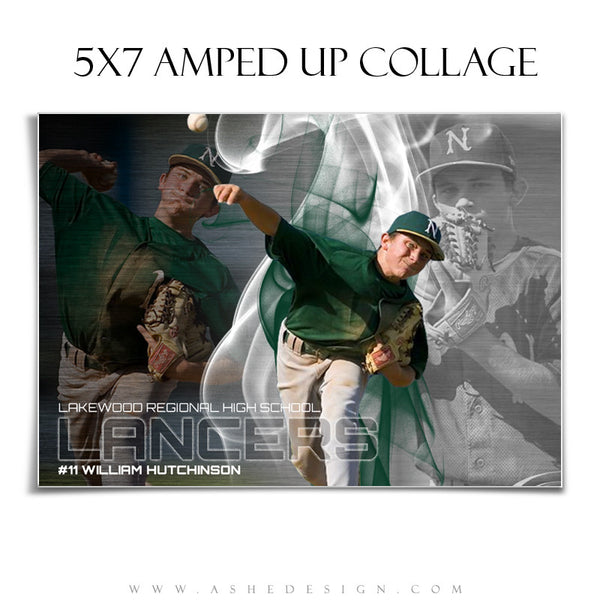 Ashe Design | Baseball Collage Templates | Triple Crown 5x7