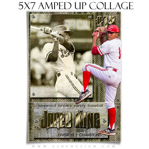 Sports Collage Templates | Hall Of Fame 5x7