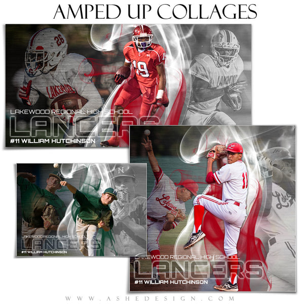 Amped Sports Collage Set | Triple Crown