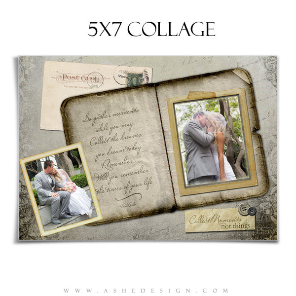 Amped Photoshop Collage Templates for Photographers | Collect Moments 5x7