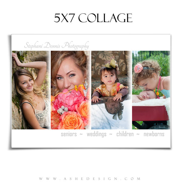 Simply Chic 5x7 Collage Template for Photographers