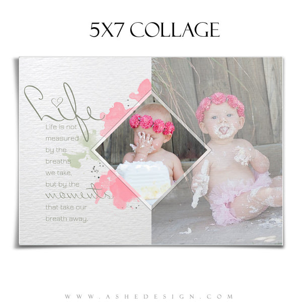 Collage Template 5x7 | Watercolors