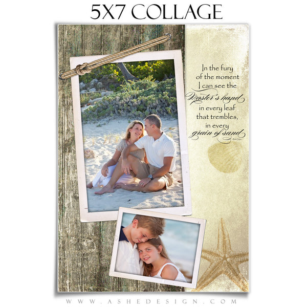 Collage Template 5x7 | Footprints In The Sand
