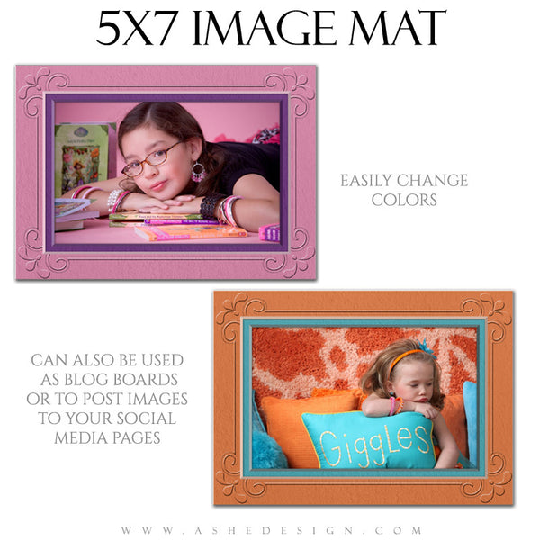 Image Mat Template | Framed 5x7