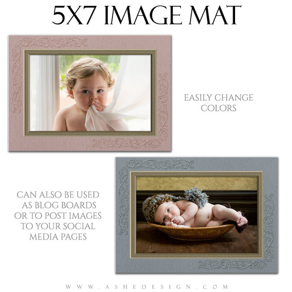 Image Mat Template | Delicately Embossed 5x7