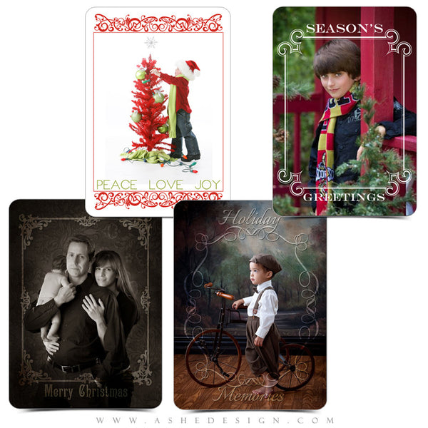 Designer Gems | 5x7 Holiday Overlays Set 2 examples