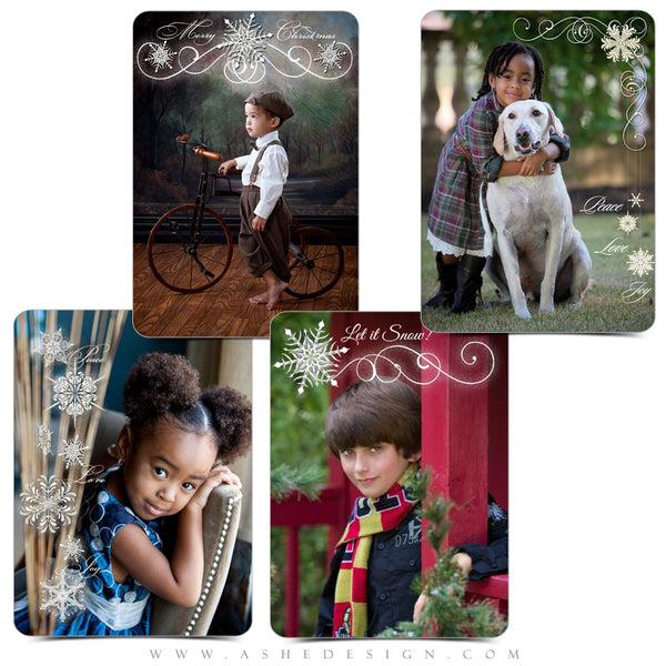 Designer Gems | 5x7 Holiday Overlays Let It Snow examples