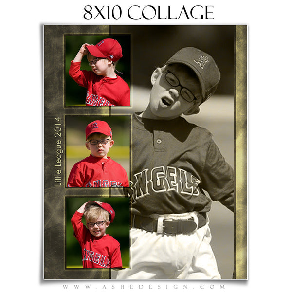 A League Of Their Own 8x10 Collage Template