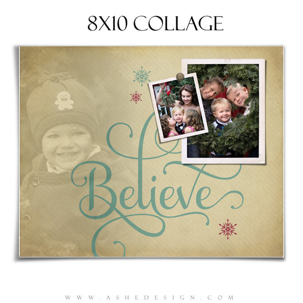 Photoshop Collage Template 8x10 | Believe
