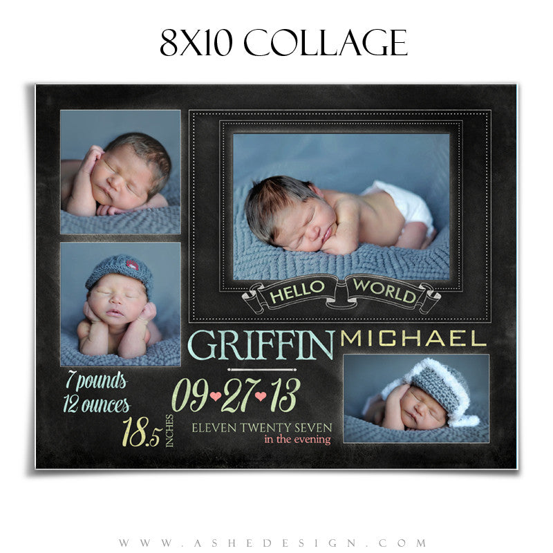 Chalkboard Babies - 8x10 Collage web display