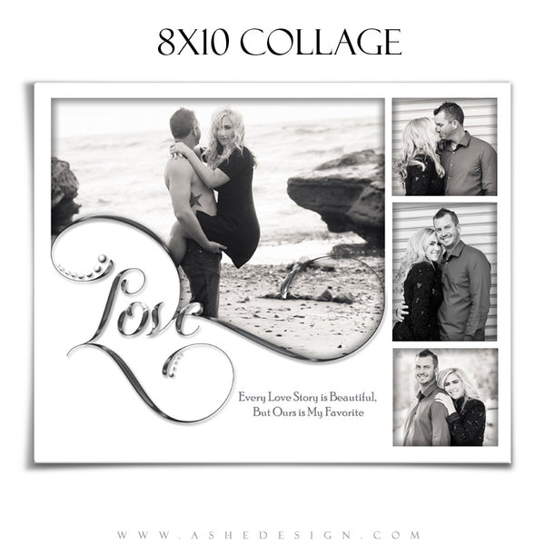 Collage Template | Simply Worded Love 8x10