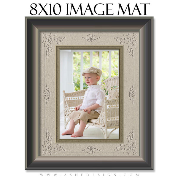 Image Mat Template | Delicately Embossed 8x10