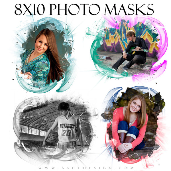 Designer Gems 8x10 Photo Masks | Color Vortex full set