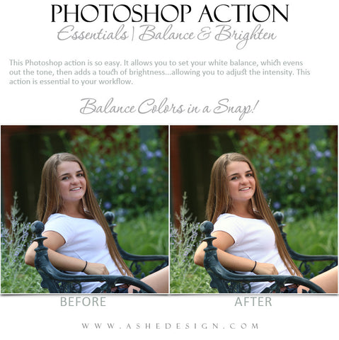 Photoshop Action | Essentials - Balance & Brighten1