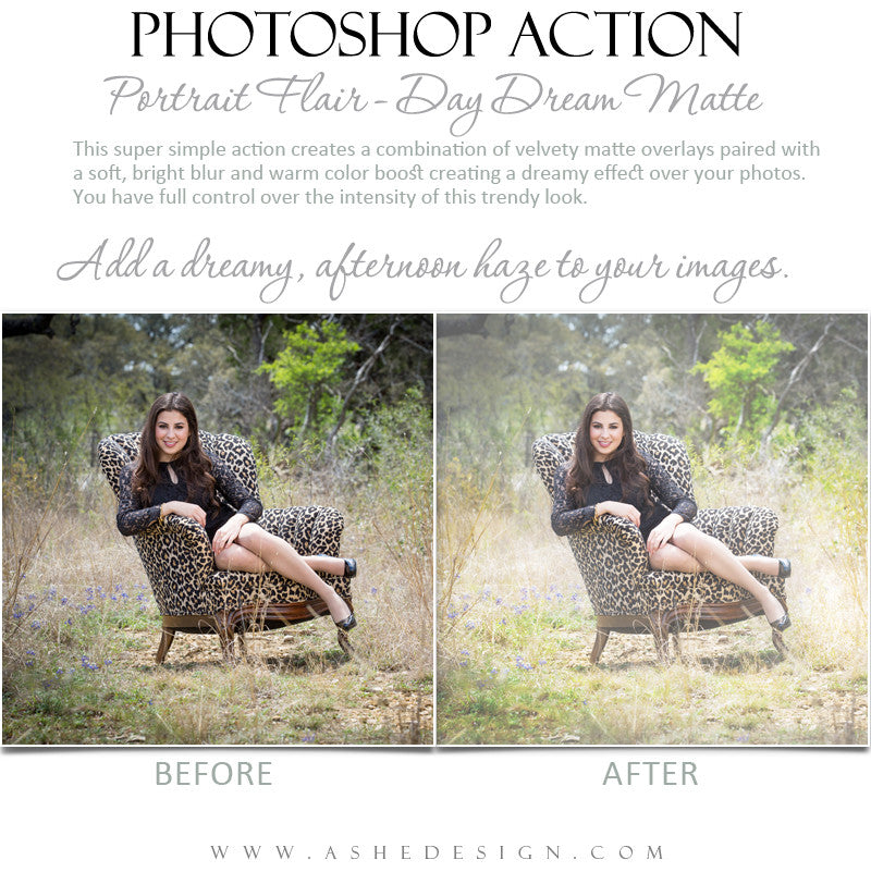 Photoshop Action | Portrait Flair - Day Dream Matte1