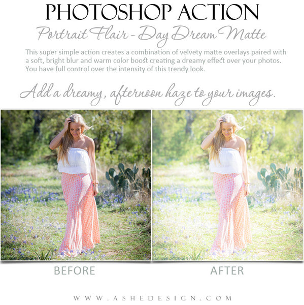 Photoshop Action | Portrait Flair - Day Dream Matte2