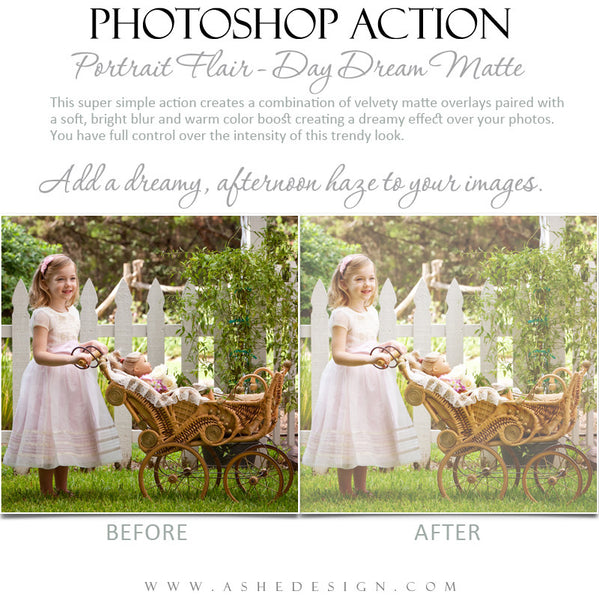 Photoshop Action | Portrait Flair - Day Dream Matte3