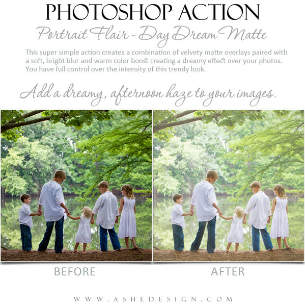 Photoshop Action | Portrait Flair - Day Dream Matte4