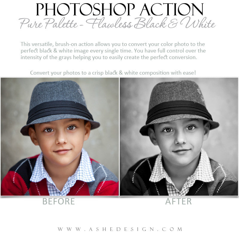 Photoshop Action | Pure Palette - Flawless Black & White1