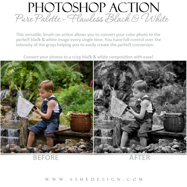Photoshop Action | Pure Palette - Flawless Black & White2