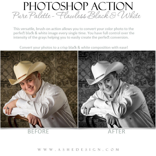 Photoshop Action | Pure Palette - Flawless Black & White3