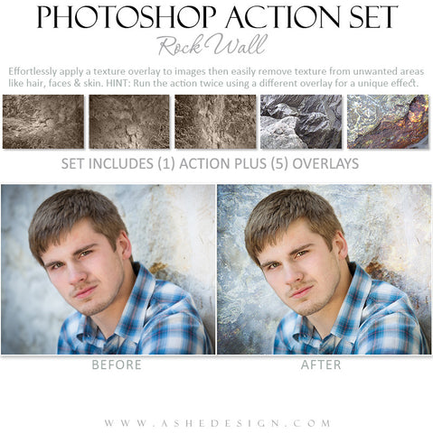 Photoshop Action Overlays | Rock Wall1