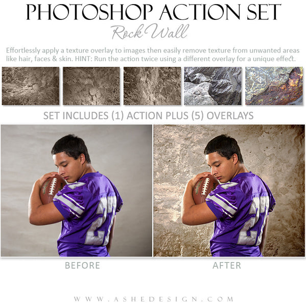 Photoshop Action Overlays | Rock Wall2