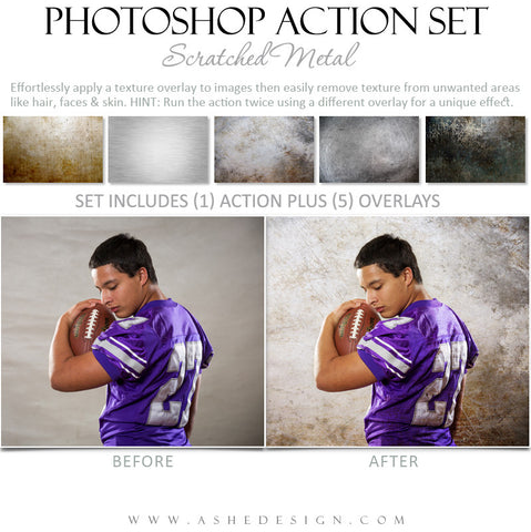 Photoshop Action | Scratched Metal Overlays example 1