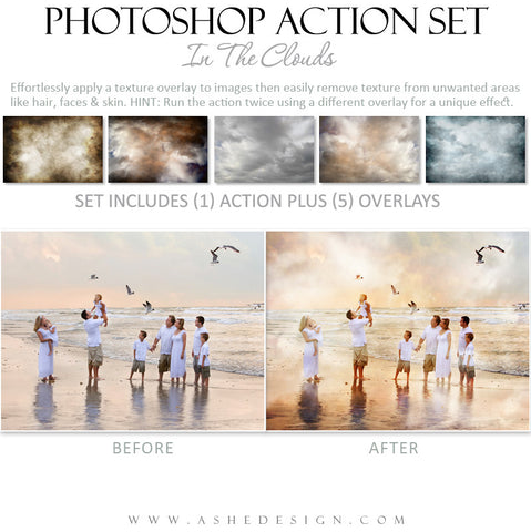 Photoshop Action | Overlays - In The Clouds example 1