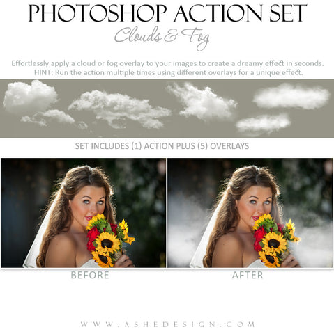 Photoshop Action | Overlays | Clouds & Fog 1