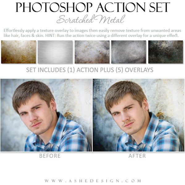 Photoshop Action | Scratched Metal Overlays example 2