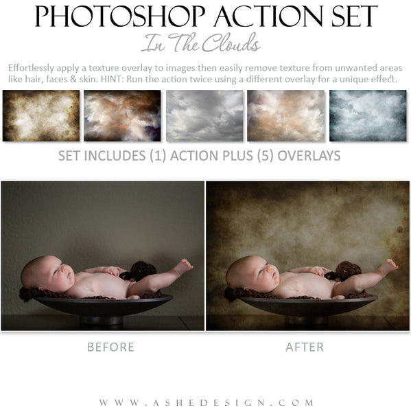 Photoshop Action | Overlays - In The Clouds example 2