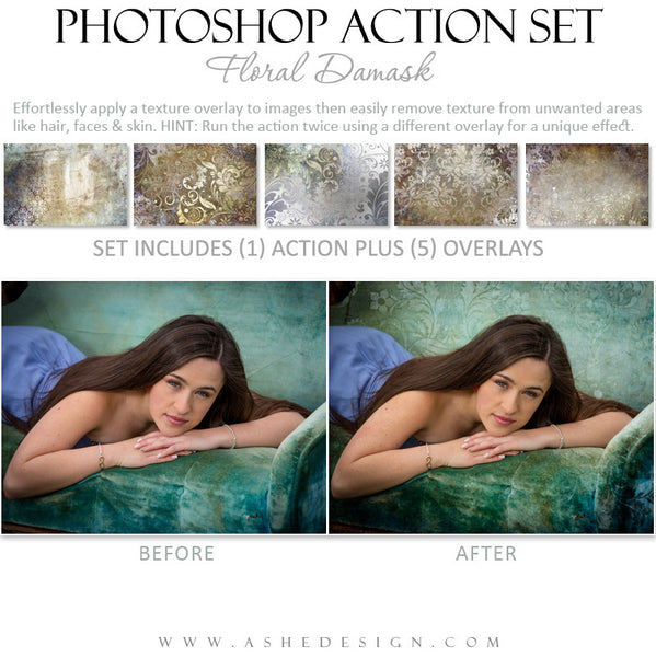 Photoshop Action | Overlays - Floral Damask example 2