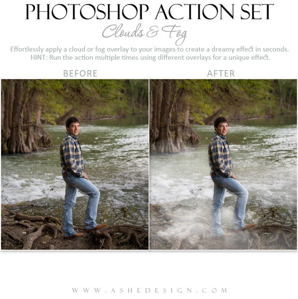 Photoshop Action | Overlays | Clouds & Fog 2
