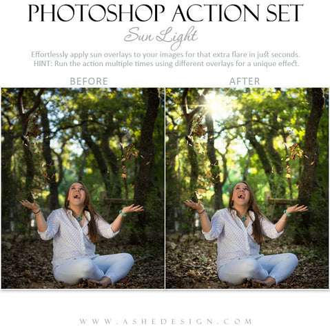 Photoshop Action | Overlays | Sun Light 2