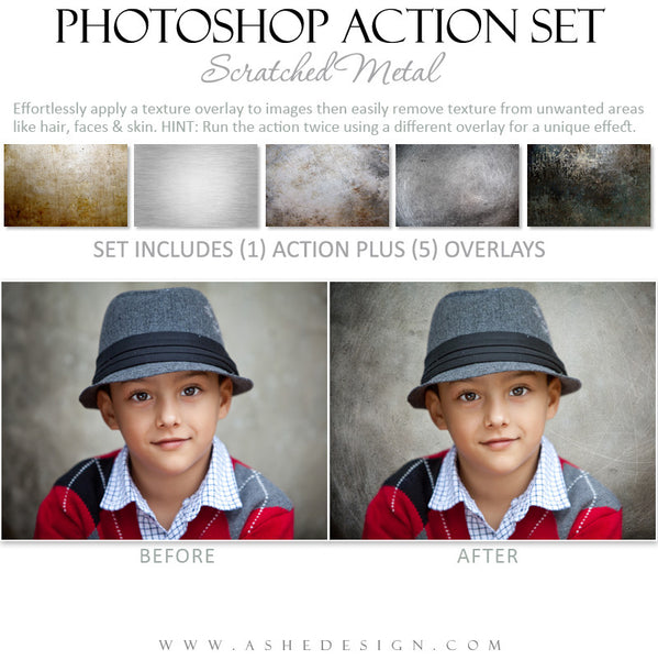 Photoshop Action | Scratched Metal Overlays example 3