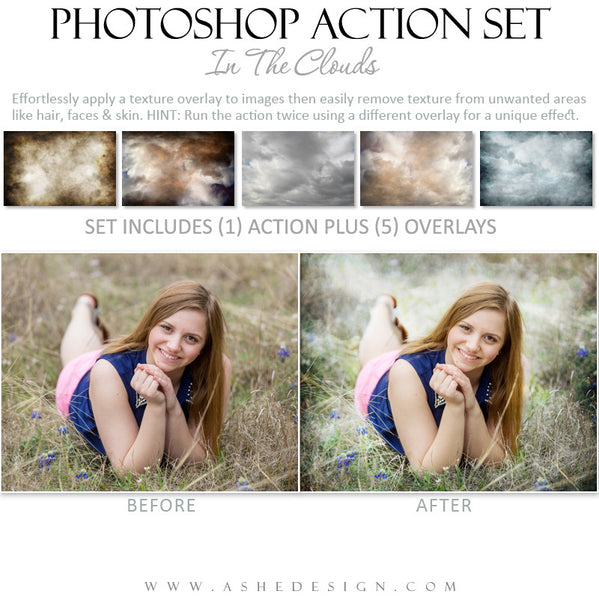 Photoshop Action | Overlays - In The Clouds example 3
