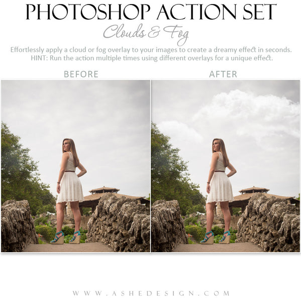 Photoshop Action | Overlays | Clouds & Fog 3