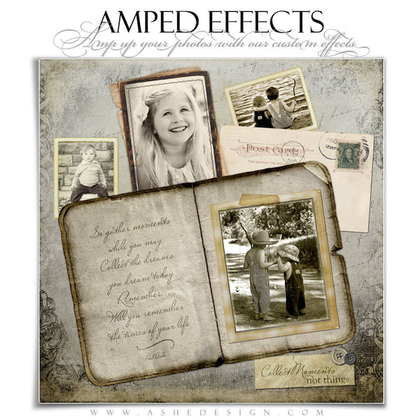 Ashe Design | Amped Effects Photography Templates | Collect Moments 12x12
