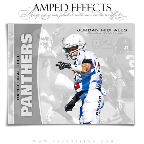 Ashe Design | Amped Effects Sports Templates | Double Take Football web display