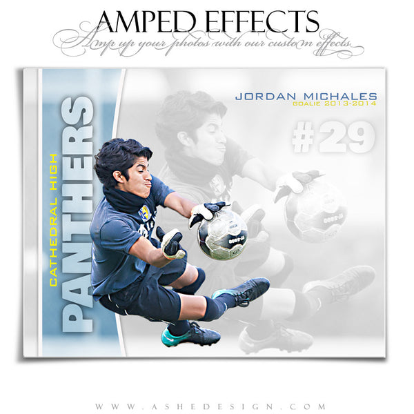 Ashe Design | Amped Effects Sports Templates | Double Take Soccer web display
