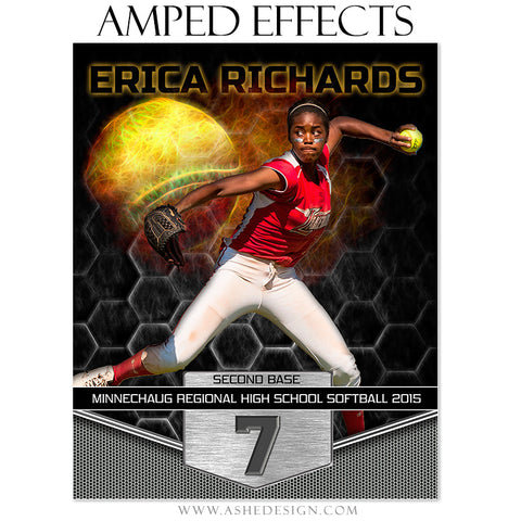 Ashe Design | Amped Effects Sports Templates | Great Balls Of Fire - Baseball/Softball