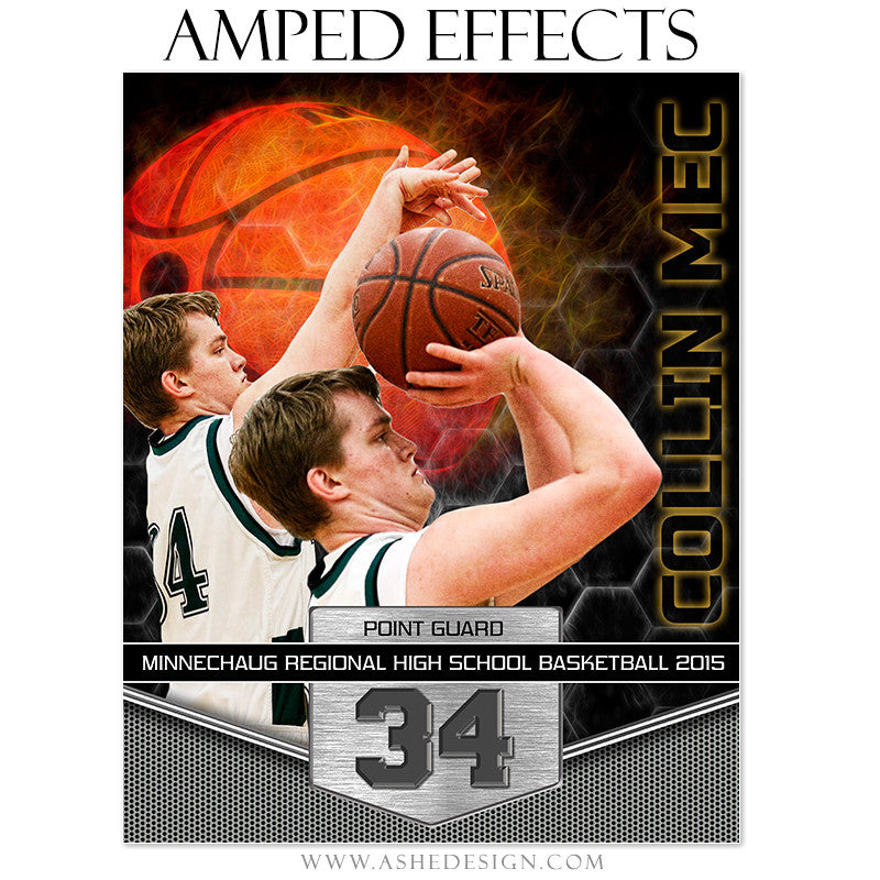 Ashe Design | Amped Effects Sports Templates | Great Balls Of Fire - Basketball