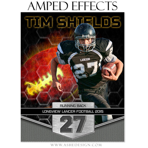 Ashe Design | Amped Effects Sports Templates | Great Balls Of Fire - Football