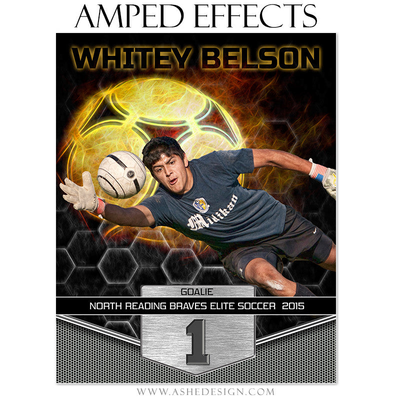 Ashe Design | Amped Effects SportsTemplates | Great Balls Of Fire - Soccer