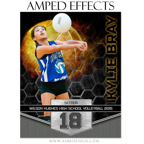 Ashe Design | Amped Effects Sports Templates | Great Balls Of Fire - Volleyball